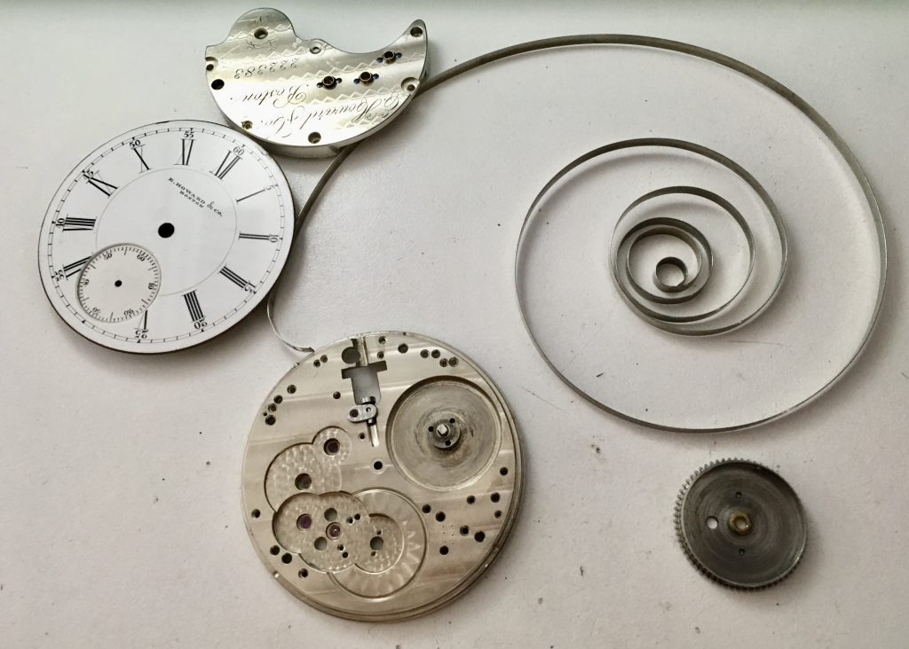 E. Howard 18s pocket watch service