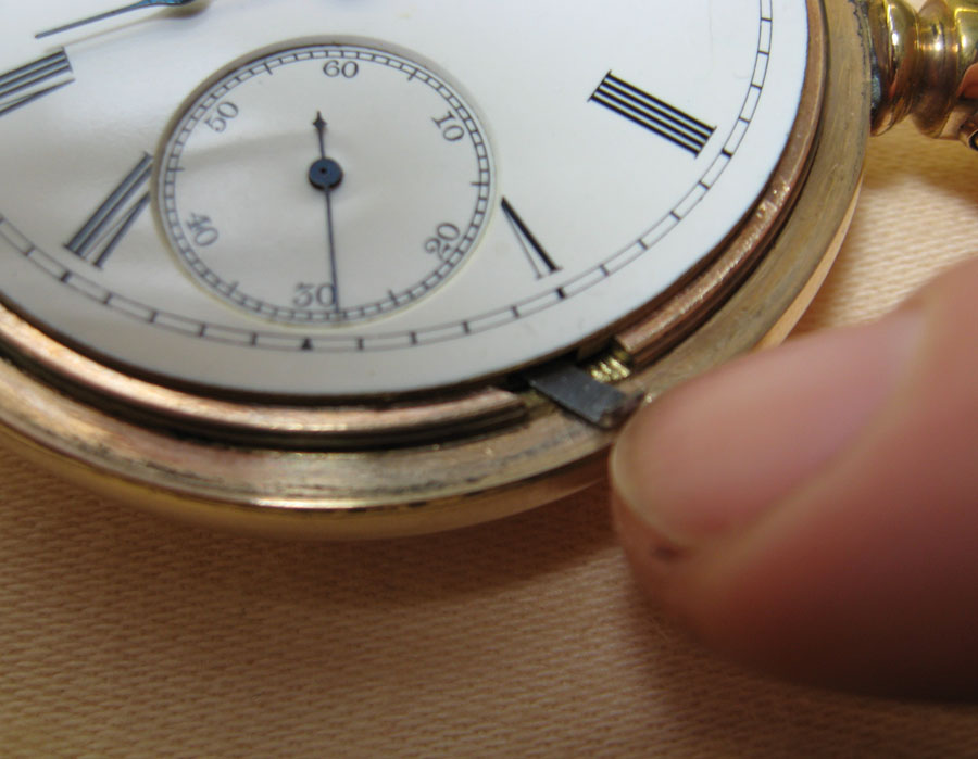 Lever set pocket watch