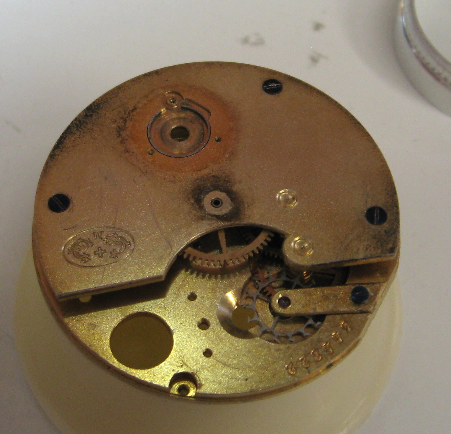 Cylinder watch repair