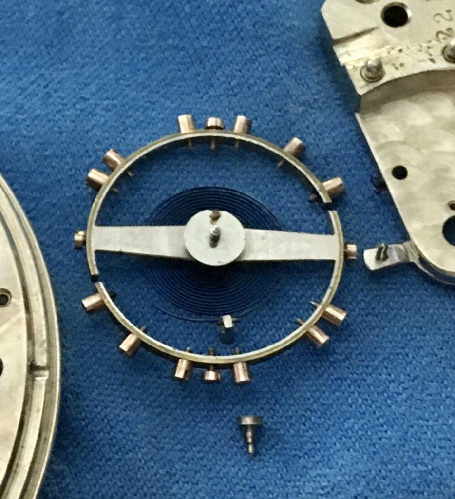 E. Howard 18s pocket watch service Balance staff